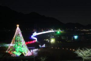 宮ケ瀬ダムといえばクリスマスのイルミネーション